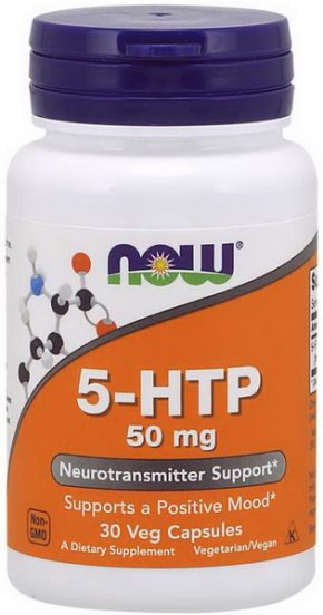 NOW 5-HTP 50 мг 30 капсул