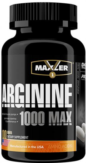 Maxler Arginine MAX 1000  100 таблеток