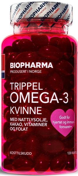 Biopharma Trippel Omega 3 Kvinne 120 капсул