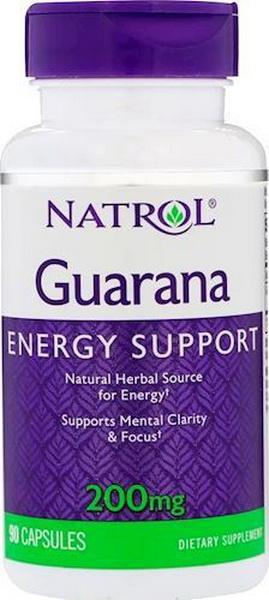 Гуарана Natrol Guarana 200 мг 90 капсул