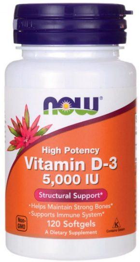 Витамины NOW FOODS VITAMIN D3 5 000 IU 120 таблеток