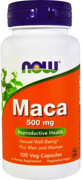 NOW Foods Maca 500 mg 100 капсул