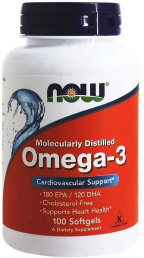 NOW Foods Omega 3 100 капсул