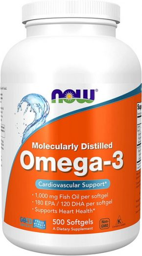 NOW Foods Omega 3 500 капсул