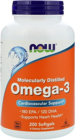 NOW Foods Omega 3 200 капсул