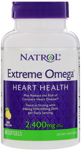 Natrol Extreme Omega 2400 mg 60 капсул