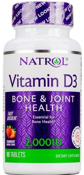 Natrol Vitamin D3 Fast Dissolve 90 таблеток