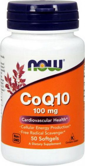 NOW CoQ10 100 мг 50 капсул