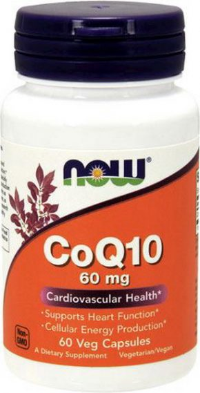 NOW CoQ10 60 мг 60 капсул