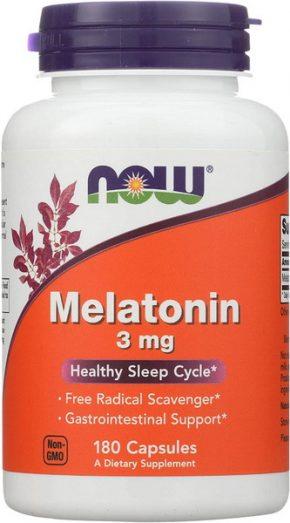 Now Foods Melatonin 3mg 180 капсул