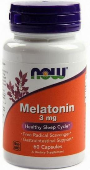 Now Foods Melatonin 3mg 60 капсул