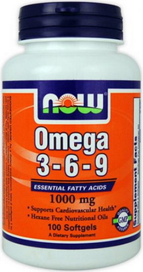 NOW Foods Omega 3 6 9 100 капсул