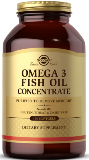 SOLGAR OMEGA-3 FISH OIL CONCENTRATE 60 капсул